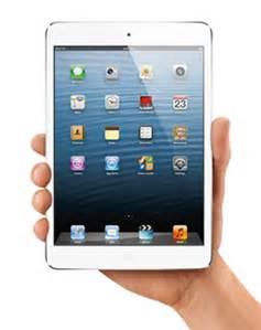 hand holding an iPad Mini
