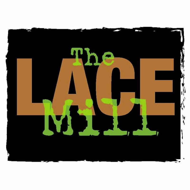 Lace Mill logo in green and orange