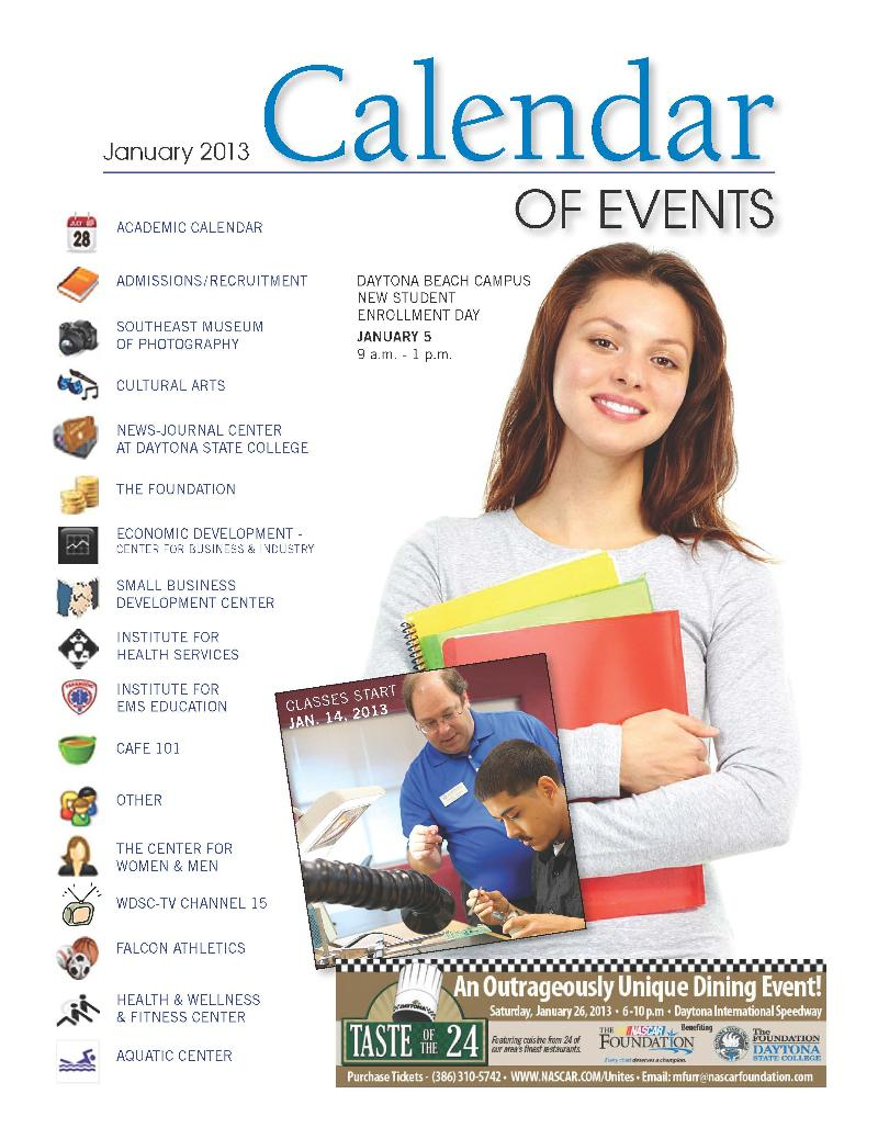 January 2013 Calendar of Events