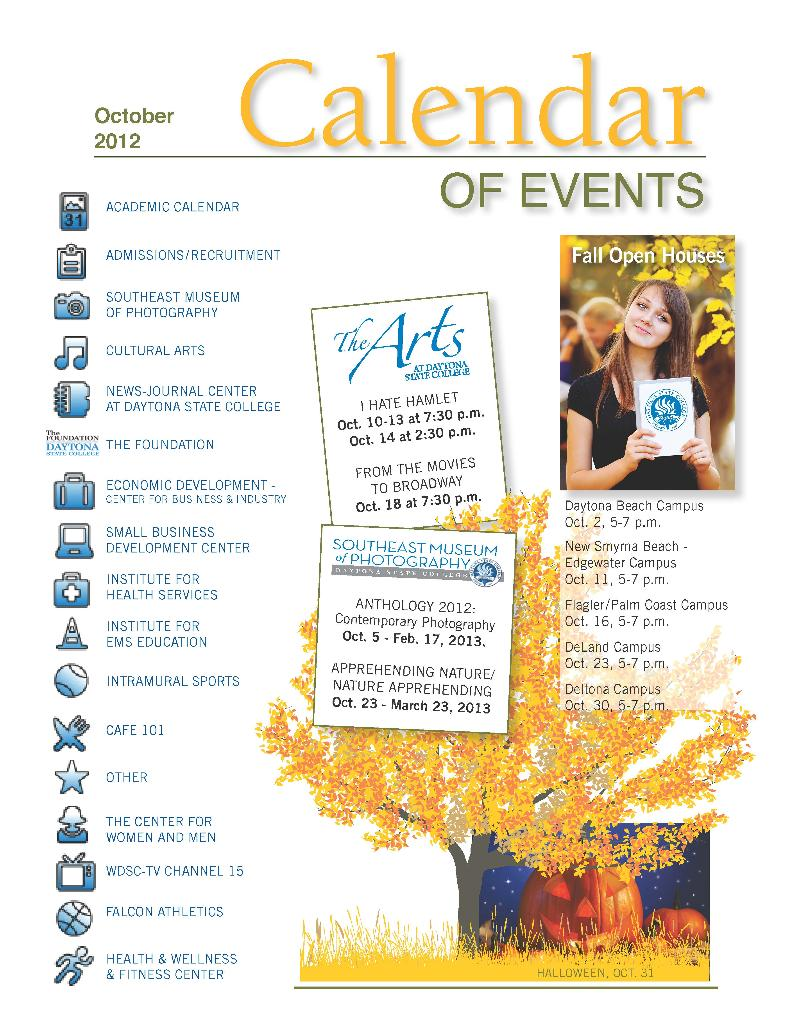 October calendar cover