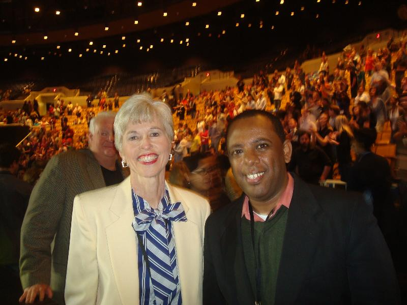With Oral Roberts daughter