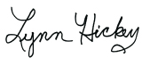 Signature of Lynn Hickey
