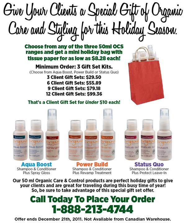 Organic Care and Styling Holiday Gift Sets