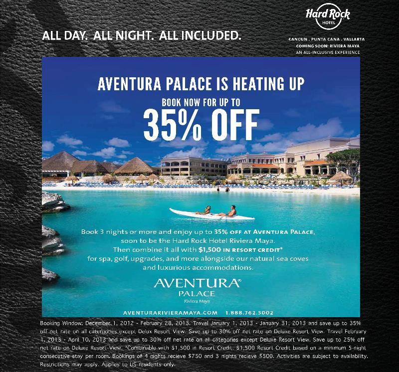 Aventura Palace 35% Promotion