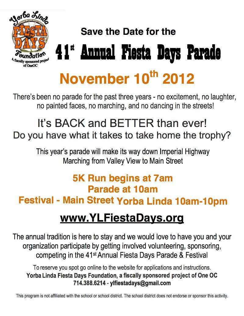 fiesta days overview