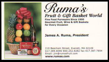 Ruma's Fruit Business Card