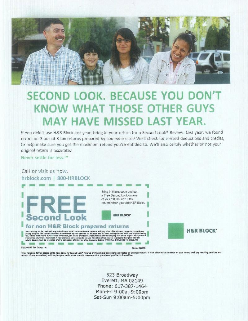 H&R Block Ad