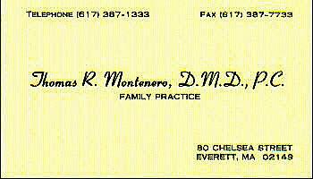 Tom Montenero - Business Card