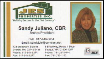 Sandy Juliano Business Card