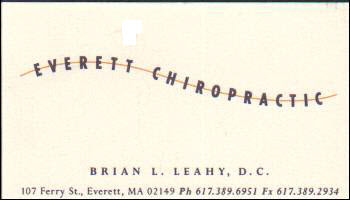 Everett Chiropractic Business Card
