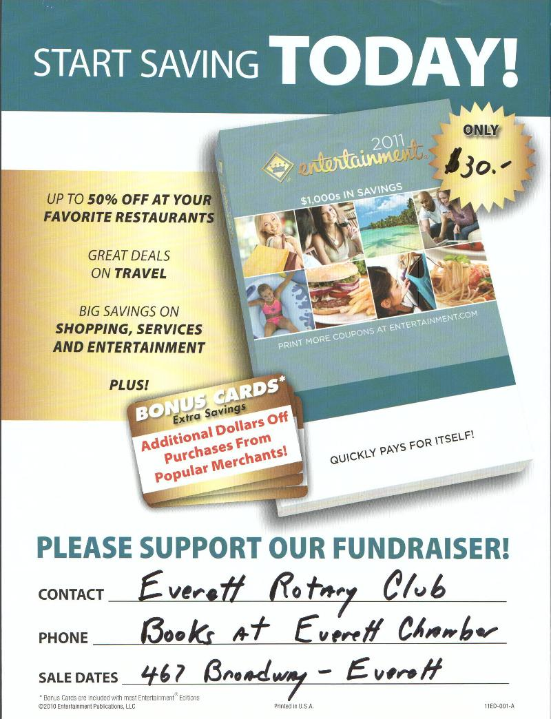 Rotary Club Entertainment Book Flyer - 2010