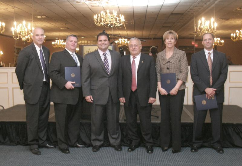 Annual Dinner 2010 - David and Mayor with Recipients