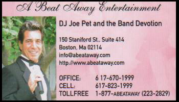A Beat Away Entertainment - Business Card
