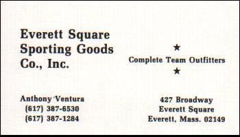 Everett Sporting Goods - Business Card