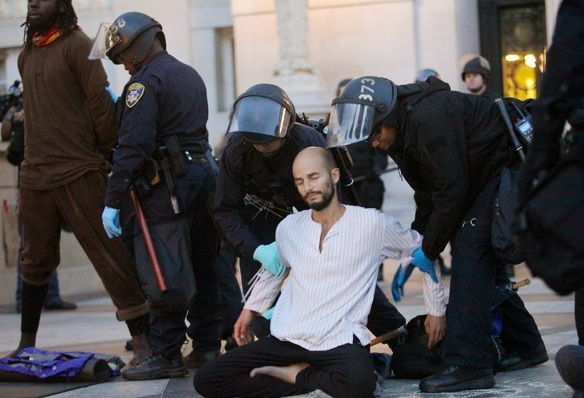 Arrested while meditating: Pancho Ramos Stierle