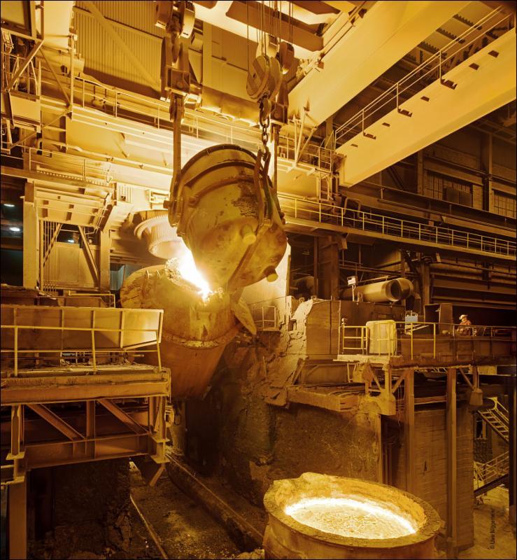 Fiery steel mill
