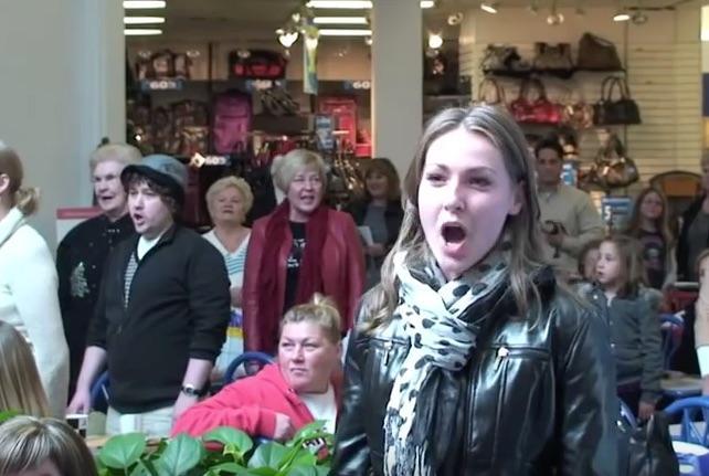 Joyful flash mob