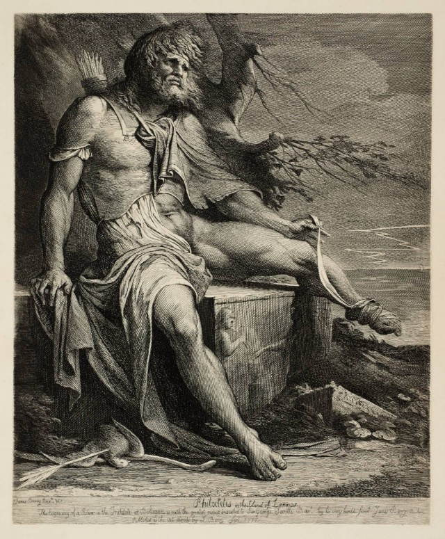 Philoctetes in pain