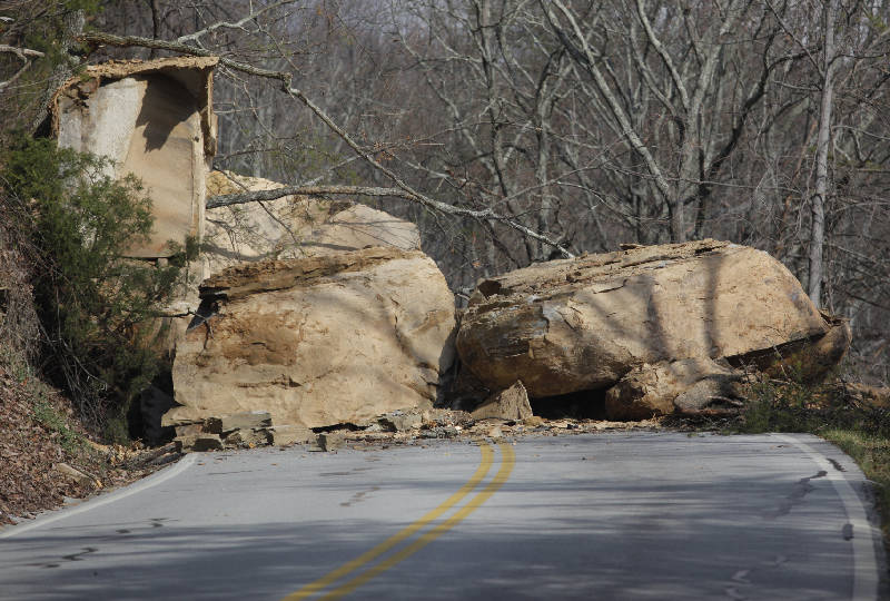 Boulders in the road