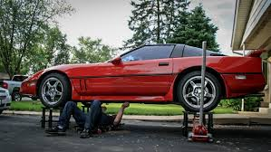 Car being repaired