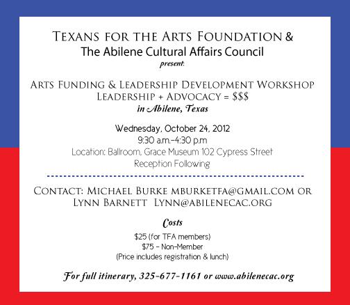 Tx for Arts 2012 workshop