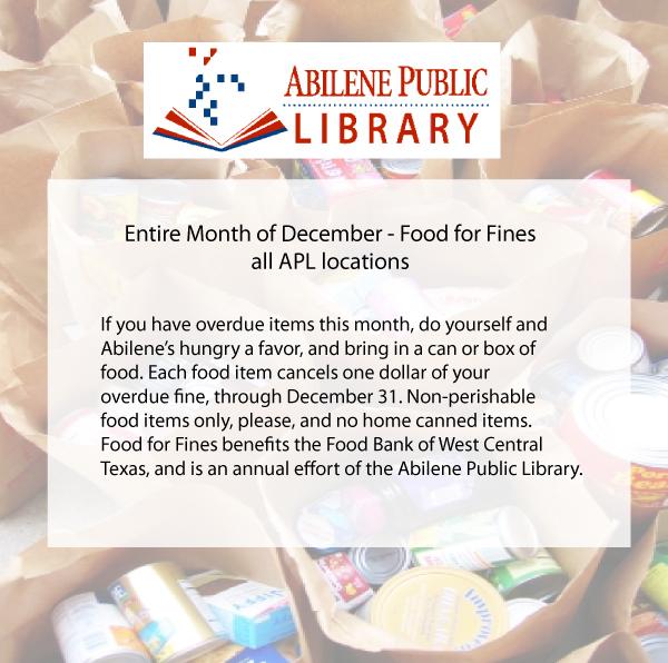 Dec Food for Fines