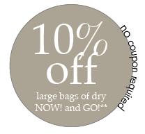 10% off Petcurean large bags
