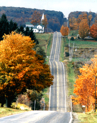 Chautauqua County Autumn Road