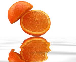 Oranges contain vitamin C