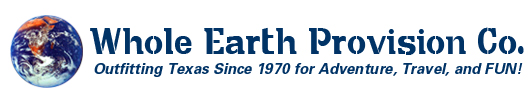 Whole Earth Provision Co. Outfitting Texas Since 1970 for Adventure, Travel, and FUN!