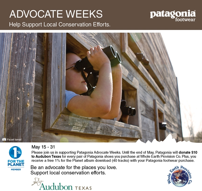 Patagonia Advocate Weeks. Help Support Local Conservation Efforts.