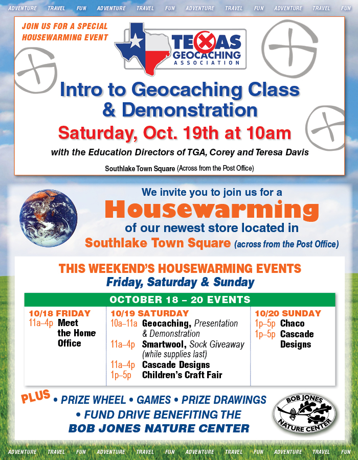 Join us for an Intro to Geocashing Class & Deomonstration!