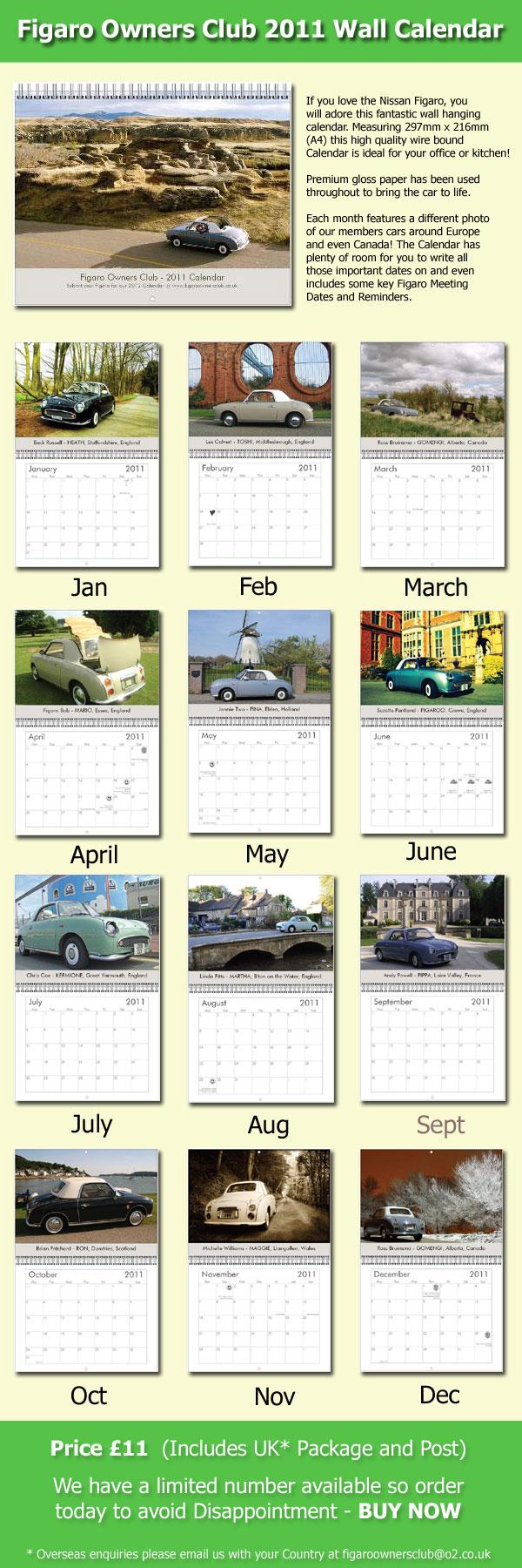 Figaro Wall Calendar