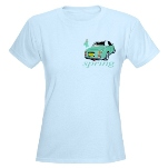 Blue T-Shirt Emarald Green