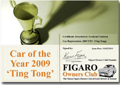 Certificate Car of Month V3