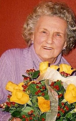 Margaret with flowers