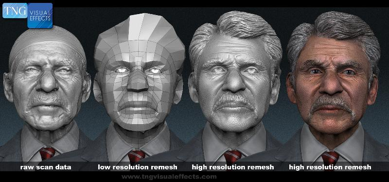 raw scan data to high res remesh
