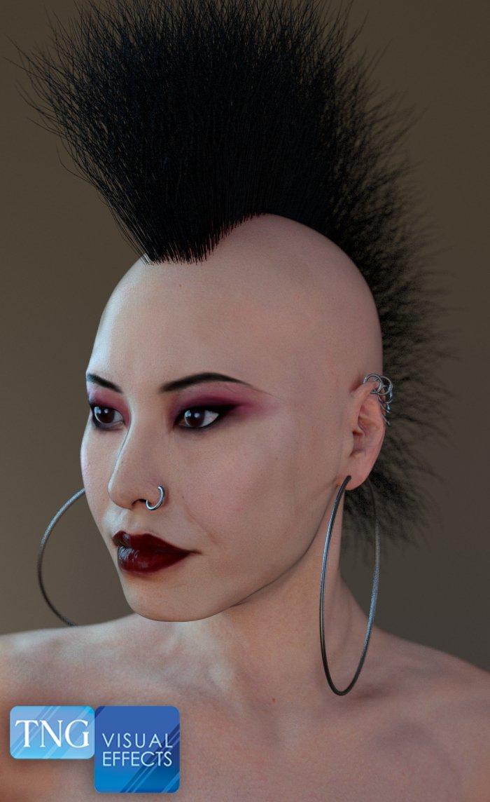 Female Head w/Mohawk