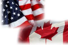 US and Canadian Flages