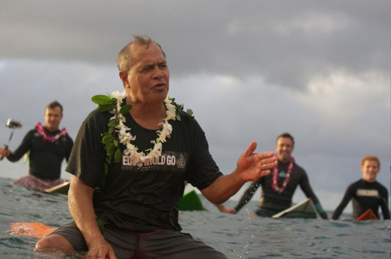 Clyde Aikau, master of the ocean ceremony. Photo: Quiksilver/Bielmann