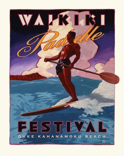 QWC Waikiki Paddle Art