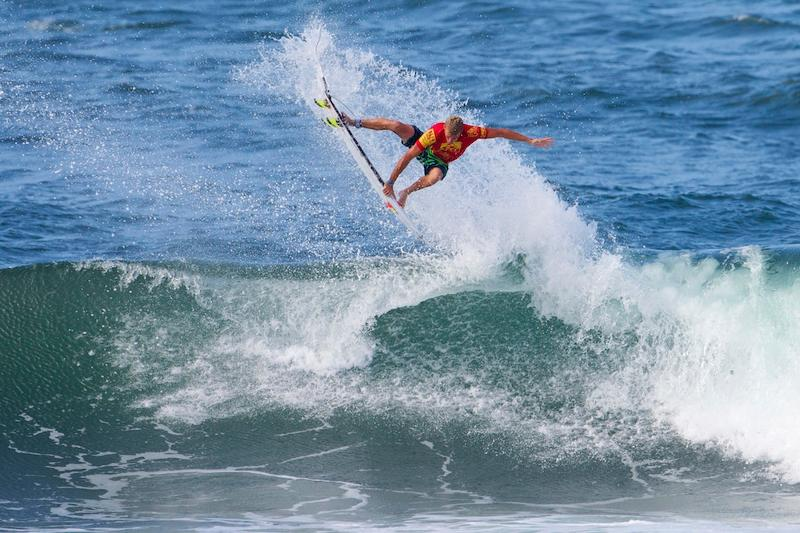 Zietz (above) was on a roll that only gained momentum, ending in a $40,000 win at the REEF Hawaiian Pro as well as an early lead on the Vans Triple Crown of Surfing hydrated by vitaminwater series ratings. Photo ASP/Kirstin