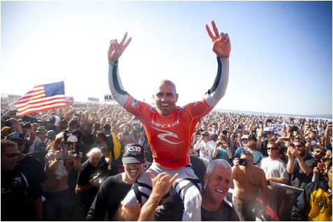 Kelly Slater 11X World Champ. But he's never been to WalMart.