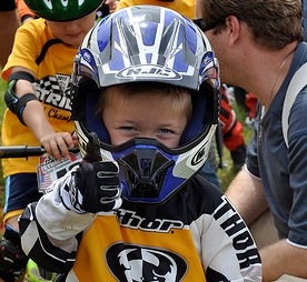 BMX child on bike