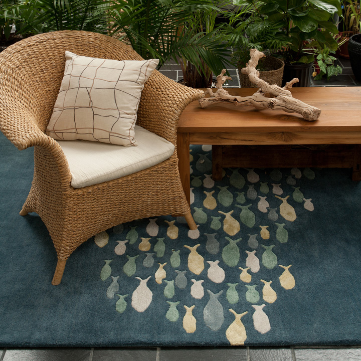 Coastal Living Area Rugs - Room Scene