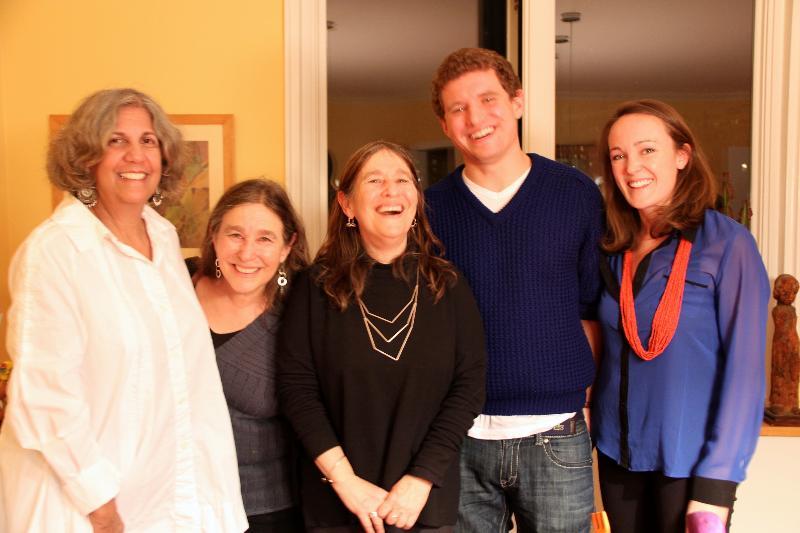Board member and hostess of FOFA's Holiday Folk Art Sale, Amy Mulvihill with friends on November 30