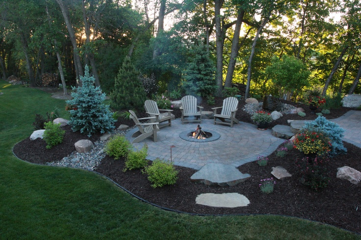 fire pit, outdoor decorating