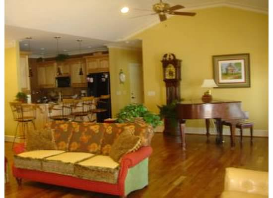 yellow family room