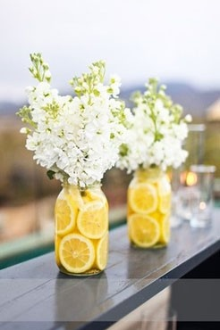 jar vase, flower arrangement, summer arrangement