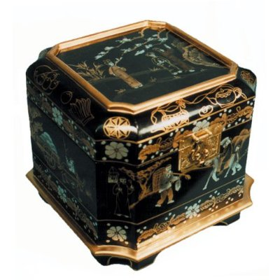 Black Lacquer Chinese Momento Box